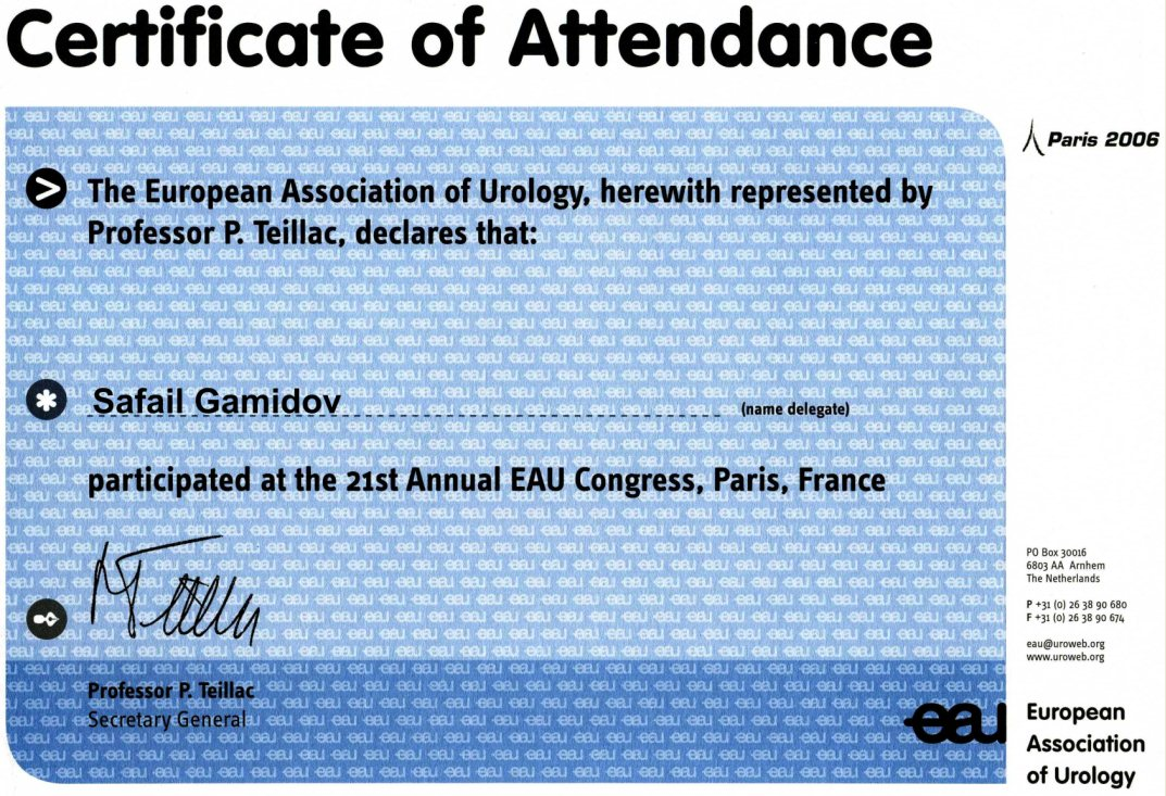 21th Annual EAU Congress